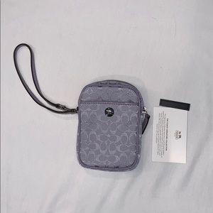 Coach signature multi pouch